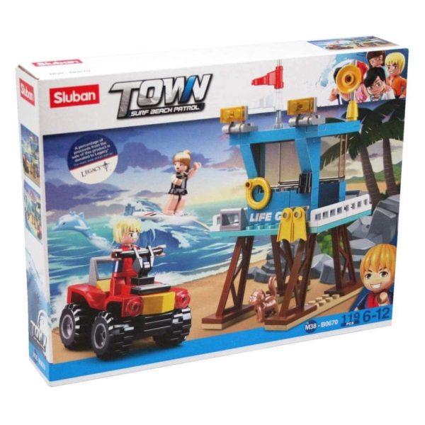 Beach Buggy Life Guard Tower Building Blocks Kid TOY Set 119pcs Sluban