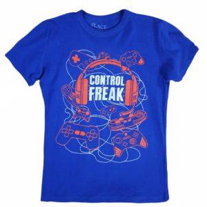 Control T-shirt blue children place