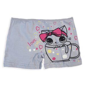 DOMI Girls' Hot Shorts Grey