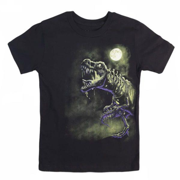 Dinosaur T-shirt black children place