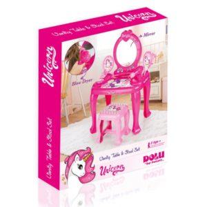 Dolu Unicorn Vanity Table & Stool Set