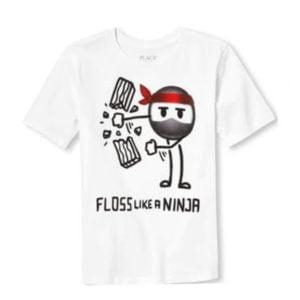 Floss T-shirt White children place