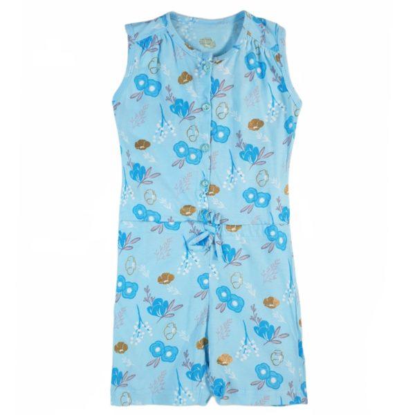 Flower Bodysuit Cyan