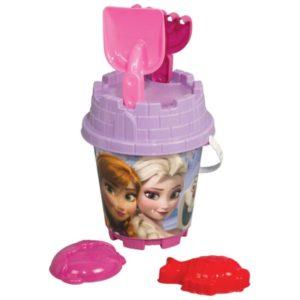 Frozen MEDIUM Round Castle Bucket Set Multi color (3 PCS) Dede