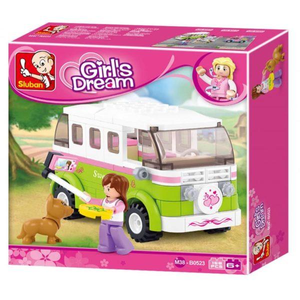 Girl's Dream Camper 158 Pcs Sluban