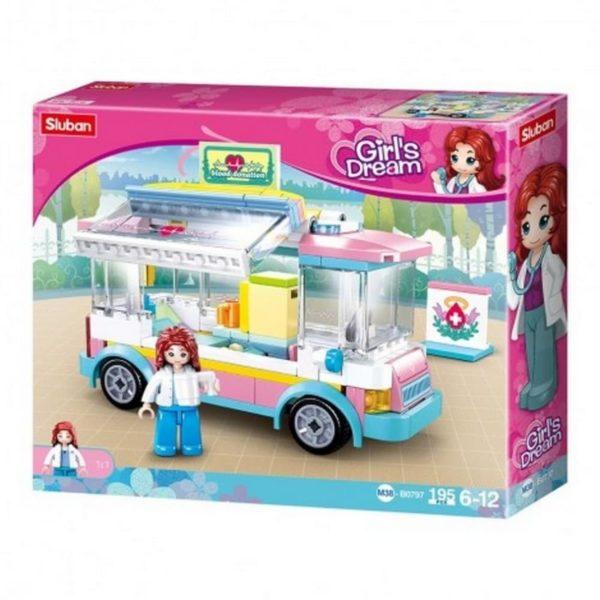 Girls Dream Car Medical Support 195 Parts Sluban