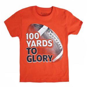 Glory T-shirt orange children place
