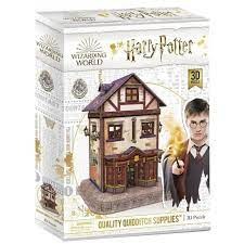 Harry Potter Quality Quidditch Supplies Shop 3D Puzzle by Cubic Fun