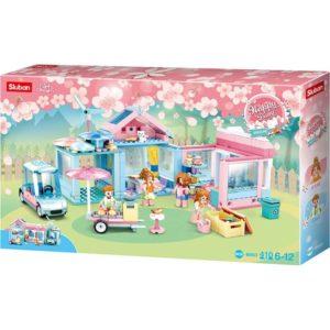 House With Garden 410 Pieces Sluban