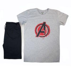 Lezard Avengers Pajama Grey