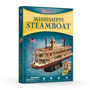 Mississippi Steamboat Shaped 3D Puzzle 142 Pieces Cubic Fun