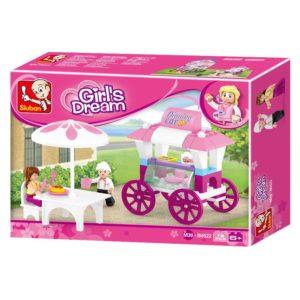 New Girls Dream Food Carriage 78 Pieces Sluban