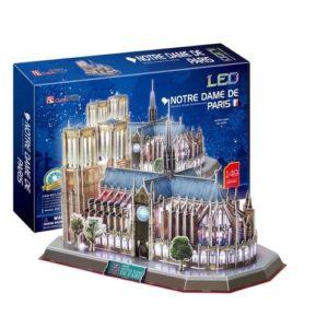 Notre Dame de Paris Cathedral 3D Puzzle - 149 Pieces by Cubic Fun