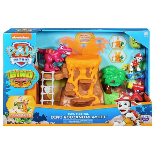 PAW Patrol Dino Rescue Volcano Playset with Marshall Figure Spin Master