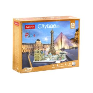 The Paris City Line 3D Puzzle are made of EPS foam board, its safe and convenient to assemble without the use of any other tools or glue. With complexity level 4 Age: 8 years and up Approx product dimensions: 38 x 32 x 25 cms Approx package dimensions: 30 x 22 x 6 cms Contents: 1 set of 3D puzzle Number of pieces: 114 No tools and glue needed