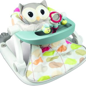 Sit-to-Walk Floor Seat with Toy Tray - Owl Winfun