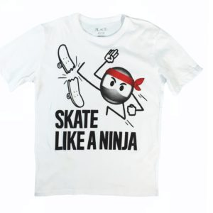 Skate T-shirt wight children place