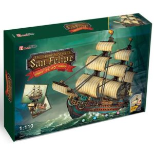 Spanish Armada ship Shaped Puzzle 248 Pieces by Cubic Fun