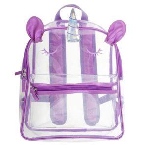 Stephen Joseph Clear Backpack Unicorn