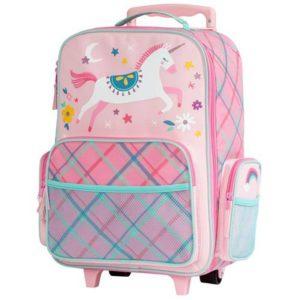 Stephen Joseph Rolling Luggage Pink Unicorn