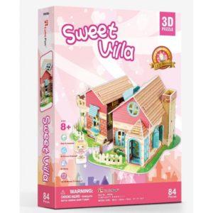 Sweet villa 3D Puzzle (84 Pcs) by CUBIC FUN