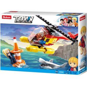 Town Surf Beach Helicopter Kids Building Block Toys 149 Pcs Sluban