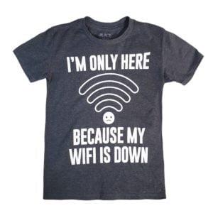 Wifi T-shirt dark grey children place