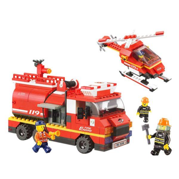 Emergency Fire Alarm The Incredible Firefighter Building Set 409-Piece Sluban