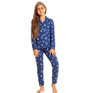 Flower Pajama Blue Black Sotra