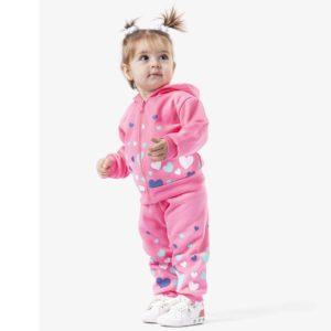 Carrot Hearts Pajama Pink