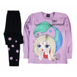 Indigo Mermaid Autumn Pajama Purple