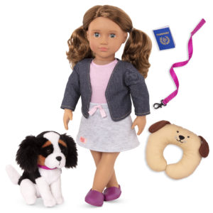 Our Generation Maddie Doll with a King Charles dog